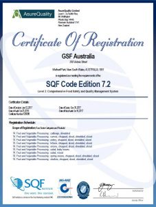 Comprehensive Food Safety Certificate