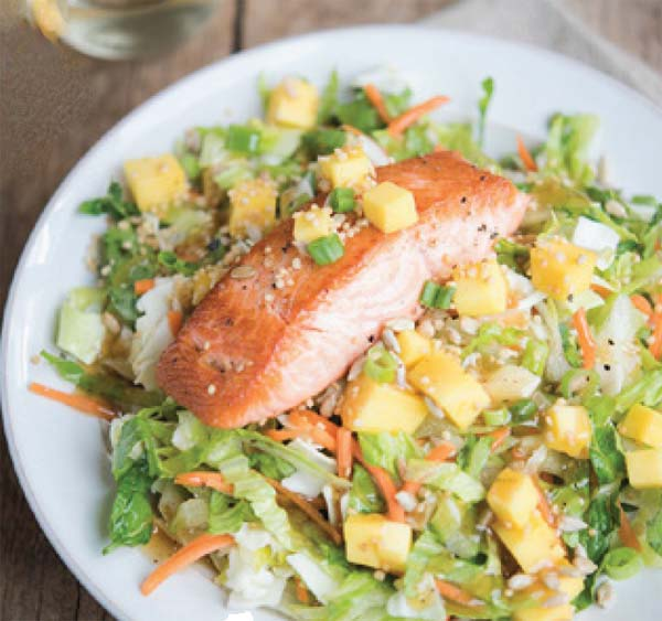 Organic Asian Chopped Salad and Salmon